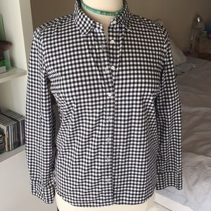 J Crew cotton gingham shirt - size 14